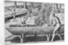 Indians Making Canoes by John White
