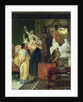 Dealer in Statues by Sir Lawrence Alma-Tadema