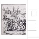 Columbus at Hispaniola by Theodore de Bry