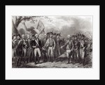 The British Surrendering their Arms to General Washington by American School