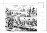 English Trading with Indians of the West Indies by Jacques Le Moyne