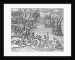 The French Fleet Plundering and Setting Fire to the Town of Chioreram by German School