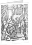 Cortes and Montezuma by American School