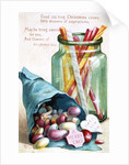 Christmas Sweets, Victorian postcard by Anonymous
