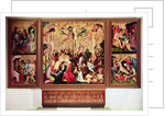 The Crucifixion, triptych with side panels depicting scenes from the Passion by German School