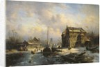 Winter Scene by Charles-Henri-Joseph Leickert