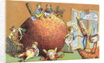 The Christmas Pudding, a Victorian christmas card by English School