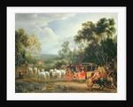 Louis XIV in his state coach by Adam Frans Van der Meulen