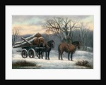 The Timber Wagon in Winter by Anonymous