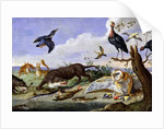 An Otter and an Owl Guarding their Catches by Jan van