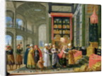 King Solomon and the Queen of Sheba by Adriaen van Stalbemt