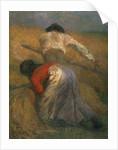 Harvesting by Adolphe Joseph Thomas Monticelli