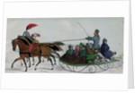Horse Drawn Sleigh by Russian School