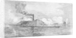 The monitor 'Weehawken' capturing the Confederate iron-clad ram 'Atlanta' (formally the blockade-runner 'Fingal') Wassaw Sound, Georgia by Julian Oliver Davidson