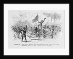 Capture of a part of the burning union breastworks on the Brock Road on the afternoon of May 6th by Alfred R. Waud
