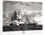 Representation of the US frigate, 'Constitution' by Thomas Birch