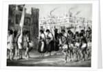 Buffalo Dance at Pueblo de Zuni, New Mexico by Ricard Hovenden Kern