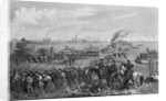 Landing of troops on Roanoke Island, Burnside Expedition, 8th February 1862 engraved by George E. Perine by William Momberger