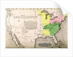 Map of the United States in 1803 by American School