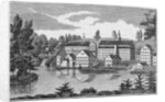 South-East View of the Factories at Yantic Falls, Norwich by American School