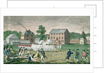 The Battle of Lexington, April 19th 1775 by engraved by A. Doolittle
