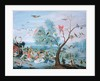 Tropical birds in a landscape by Jan van