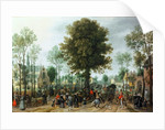 Frederick V and his bride Elizabeth entering Zeeland, May by Sebastian Vrancx