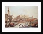 View of the Doge's Palace and the Piazzetta, Venice by Giuseppe Bernardino Bison