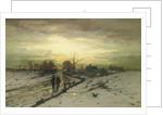 Snow Scene: Sunset by Ludwig Munthe