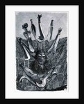 Knives, mask and mat from Upper Congo by English School