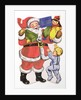 Father Christmas, Victorian Christmas card by English School