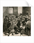 Relief of the Unemployed in London: Giving Out Soup Tickets by English School