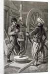 The Petroleum Wells at Baku on the Caspian: Boring a Petroleum Oil Well by English School