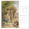 Indian Household in East Brazil by Johann Moritz Rugendas