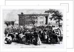 Market Scene in Macon, Georgia by Alfred R. Waud