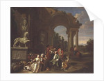 A Hunting party in classical ruins by Peter Jacob Horemans
