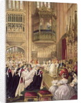 The Marriage of Edward VII Prince of Wales to Princess Alexandra of Denmark, St. George's Chapel Windsor, 7th March by English School