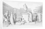 Gaius Gracchus Weeping Before his Father's Statue, engraved by B.Barloccini by C.C Perkins