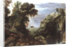 Classical landscape by Salomon van Ruisdael or Ruysdael