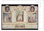 Collection of six miniatures depicting Queen Elizabeth I, figures and scenes from her life by English School
