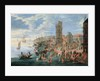 A Harbour Scene by A.F. & Bouts