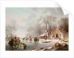 Winter Scene by Andries Vermeulen