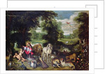 Adam and Eve with God in the Garden of Eden and the story of the Fall by Jan the Elder Brueghel