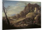 Landscape with Farmers tending their Animals by Pieter the Younger Mulier