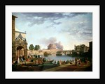 The Election of the Pope with the Castel St. Angelo, Rome in the background by Antonio Joli