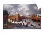 Amsterdam City Gate by Anthonie Beerstraten