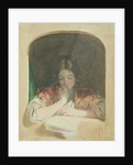 Girl Reading at a Window by Karoly or Charles Brocky