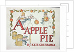Illustration for the letter 'A' from 'Apple Pie Alphabet' by Kate Greenaway
