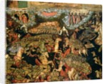 Battle between the Russian and Tatar troops in 1380 by Russian School
