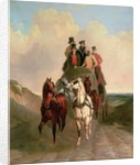 A Coach and Four on an Open Road by William Snr. Shayer